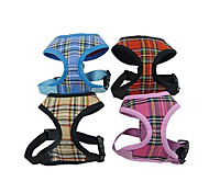 Adjustable Checked Dog Vest Harness for Pets Dogs