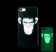 resplandor patrón chimpancé en el caso duro para el iphone 5 oscuro / iphone 5 s