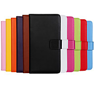 einfarbig stilvolle echte PU-Leder Flip-Cover Brieftasche-Kartensteckplatz Fall mit Standplatz für iphone 6 plus (verschiedene Farben)