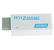 HDMI Video Converter Adapter Full 1080p 720P HD With 3.5mm Audio Jack for Nintendo Wii