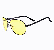 Cycling Men's 100% UV400 Polarized Alloy Aviator Sports Night Vision Goggles Glasses