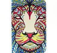 magic spider® colorido tigre pu capa carteira de couro estão com protetor de tela para Samsung Galaxy Tab t110 / T116