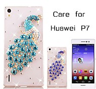 Back Cover Rhinestone Animal PC Hard Case Cover For Huawei Huawei P7 / Huawei G7