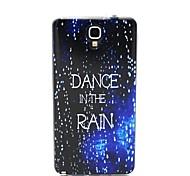 design de mode Coco Fun® marche dans le motif de pluie TPU doux cas de retour de couverture pour Samsung Galaxy Note n7505 3 lite
