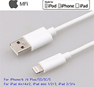 relámpago certificado IMF sincronización de datos de 8 pines y cable usb cargador para 5s 5c 5 ipad y otros 6plus iPhone6