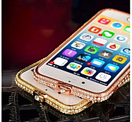 High Quality Shiny Aluminum Luxury Metal Diamond Look Bumper Frame for iPhone 6 Plus (Assorted Colors)