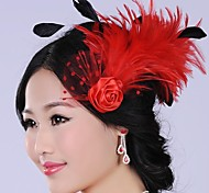 Graceful Fashion Exaggerated Hand made Feather  Pearl  Bridal Headpiece
