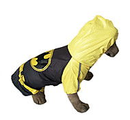 Dog Rain Coat - XXL / XXXL / 4XL / 5XL - Spring/Fall - Yellow - Waterproof - Cotton