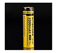 18650 3100mAh 3.7V Li-ion rechargeable batteries de Nitecore