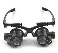 dys Gläser geben 10x 15x 20x 25x (15mm) Witz led-licht-Uhr Reparatur Lupe keine 9892gj schwarz