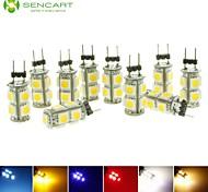 10 stuks SENCART G4 2 W 9 SMD 5050 110-140 LM Warm wit / Koel wit / Natuurlijk wit / Rood / Blauw / Geel / Groen T Decoratief SpotjesDC