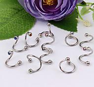 Fashion Stainless Steel Earrings Eyebrow Lip Ring Body Jewelry Piercing(Random Color)