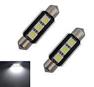 1W Festoon Lichtdekoration 3 SMD 5050 60-70lm lm Kühles Weiß DC 12 V 2 Stück