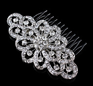 Vintage Wedding Party Bridal Bridesmaid Round Diamond Swirl Bridal Free Hair Comb For Women