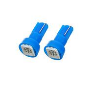 T5 1W 50lm 1-5050 SMD LED Blue Light Car Indicator Lamp Bulbs (2 PCS)