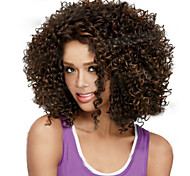 Short Natual Black Synthetic Wigs Curly Wigs
