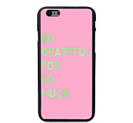 Grateful for So Much Design PC Hard Case for iPhone 6