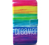 Rainbow Reindeer Pattern PU Leather Case with Stand Card Holder for Samsung Galaxy Note 3 N9000