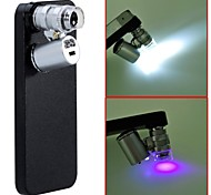 60X Zoom LED Microscope Micro Lens Magnifier Jeweler Loupe with Case for iPhone 5 5S