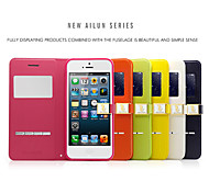 Ailun® 2nd Ultra Thin Magnetic Flip Cover Leather Window View Case with Stand for iPhone 5/5S (Assorted Colors)