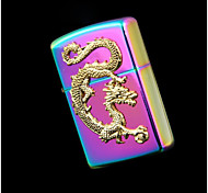 Exquisite Color Dragon Bright Chrome Kerosene Lighter