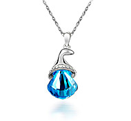 HUALUO®Crystal Diamond Horn Necklace