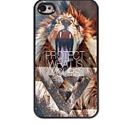 Lion Protect What is Yours Design Aluminum Hard Case for iPhone 4/4S