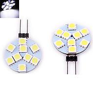 1 pcs ding yao G4 3W 9X SMD 5050 200LM 2800-3500/6000-6500K Warm White/Cool White Bi-pin Lights DC 12V