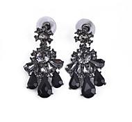 D Exceed Elegant Fashion Black Women Earrings Alloy Glass Drop Earrings for Party Jewelry