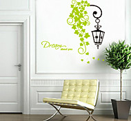 Romantic Flower Rattan Lamp PVC Wall Stickers Wall Art Decals