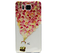 Balloon Pattern Transparent Painted Relief TPU Material Phone Shell for Samsung Galaxy Alpha G850