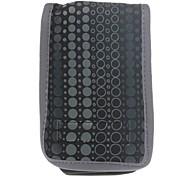 Fashionable Three Pocket Neoprene Mobile Phone Pouch - Black