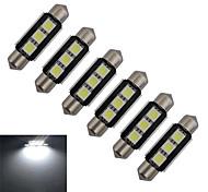 1W Festoon Lichtdekoration 3 SMD 5050 60-70lm lm Kühles Weiß DC 12 V 6 Stück