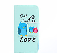 The Owls Pattern PU Leather Full Body Case with Card Slots And Stand Case for Samsung Galaxy A3