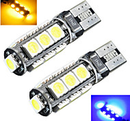 2 pcs ding yao T10 5W 13X SMD 5050 200LM Cool White/Red/Blue/Yellow/Green Decorative Decoration Light DC 12V