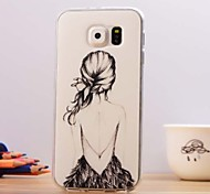 Beautiful Figure Pattern TPU Soft Case for Samsung Galaxy S6