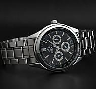 acciaio classico modello 3d orologio al quarzo affari chenxi di alta qualità