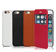 iCoverCase® PU Leather Magnetic Ultra-thin Flip Cover Lichee View Window Case with Stand for iPhone 6(Assorted Colors)