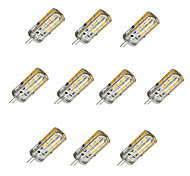 10pcs Dimmable G4 3W 24x2835SMD 180LM 3000K/6000K Warm White/Cool White Light LED Corn Bulb(DC12V)