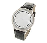 stilvollen Touch-Screen-Digital-Armbanduhr - Silber + Weiß (2 x CR2016)