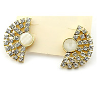 The Fan With Diamond Earring1*Pair