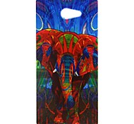 Dream Of The Elephant Pattern Soft TPU Case for Sony Xperia M2