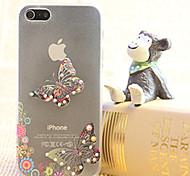 diamants papillon quelques peinture boîtier en plastique transparent pour iPhone5 / 5s