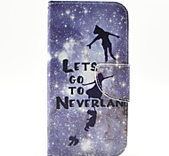 Peter Pan Pattern The Inside Painted Cards Case for Samsung Galaxy S6 Edge