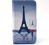 Eiffel Tower Pattern 360 Degree Rotation PU  Material  Full Body Case for Samsung Galaxy 6 EDGE
