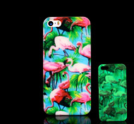 Flamingo Pattern Glow in the Dark Cover for iPhone 4 / iPhone 4 S Case