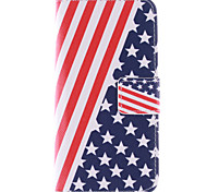 Stars And Stripes Pattern PU Leather Full Body Case with Card Slots And Stand Case for  Samsung Galaxy S6 Edge