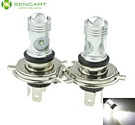2 X H4 P43T CREE 20W Cool White XP-E LED 1600LM 6500K Car Rear Fog Light Bulb DC12V-24