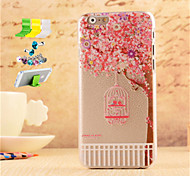 Birdcage Pattern Striae PC Protective Shell And Dust Plug Bracket Assembly for iPhone 6
