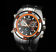 New fashion men's business double movement movement waterproof anti fall large dial watches LCD BWL590